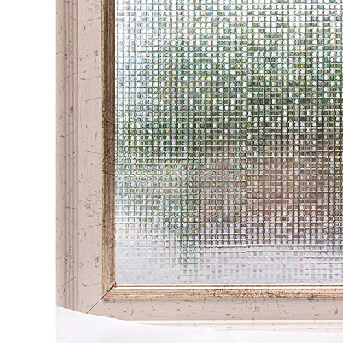 Plastic Window Insulation - CottonColors Brand Window Film 35.4x118.1 Inches Ecology Non Toxic Static Decoration for UV Rejection Heat Control Energy Saving Privacy Glass Stickers