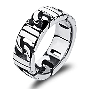 Efloral men's Jewelry fashion Slver ring stainless steel punk band Europe domineering Accessories rock ring