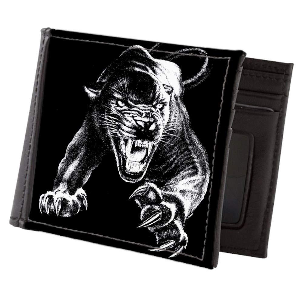 Royal Lion Mens Wallet Billfold Black Panther
