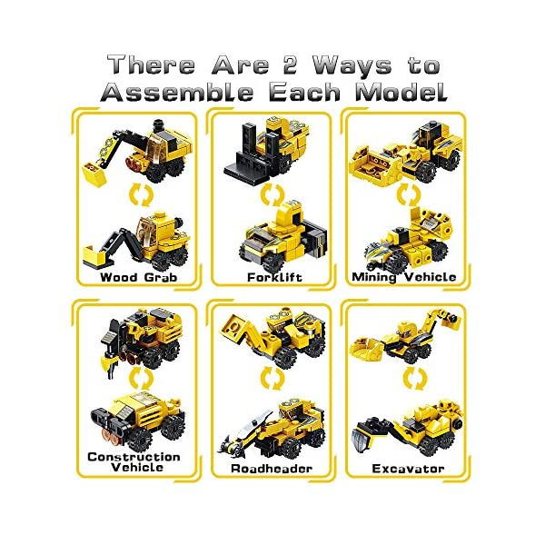 VATOS STEM Building Toys, 573 PCS Robot STEM Toys for 6 Year Old Boys 25-in-1 Engineering Building Bricks Construction…