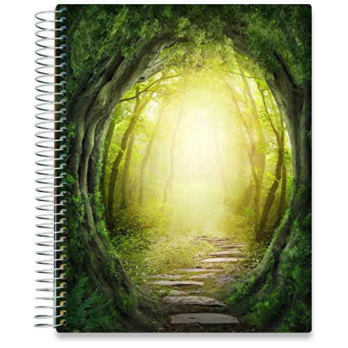 Tools4Wisdom Planner 2019-2020 Academic Year - 8.5 x 11 Hardcover - Green Forest Cover