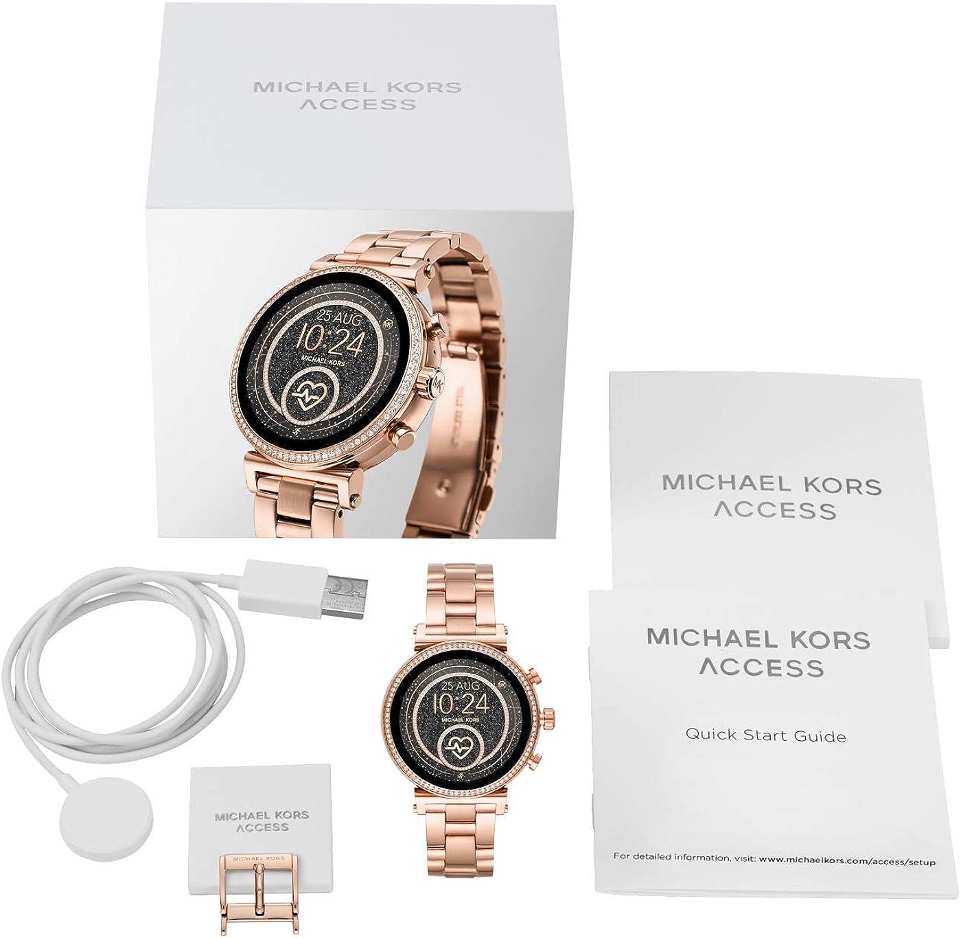Michael Kors Reloj Analógico-Digital para Mujer Correa en Acero ...