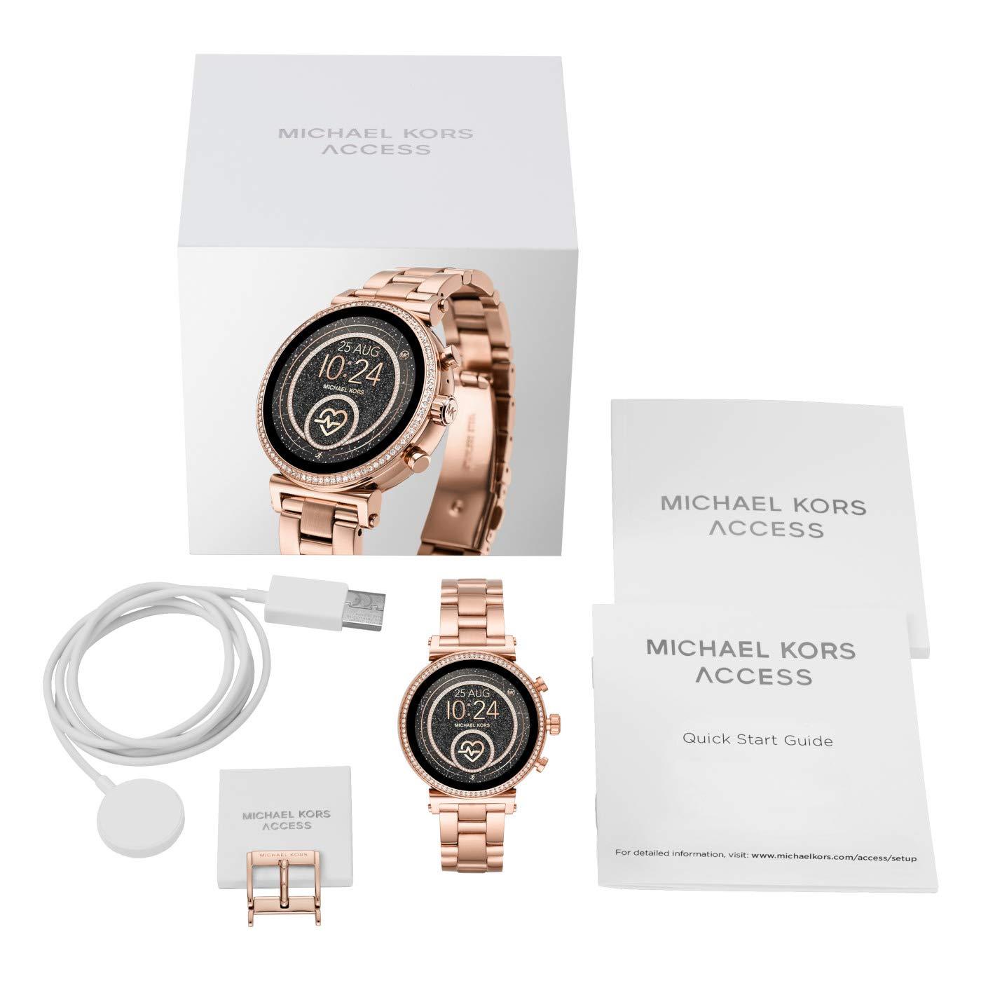Michael Kors Reloj Analógico-Digital para Mujer Correa en Acero Inoxidable MKT5063