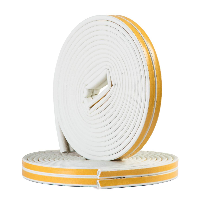 16 Meter Selbstklebende EPDM-Gummidichtung Ideal D/ämmung Isolierung Fenstern T/üren 16 Meter Energieeffizienz E-Profil E-Profil Wei/ß Sanojtape Dichtungsband