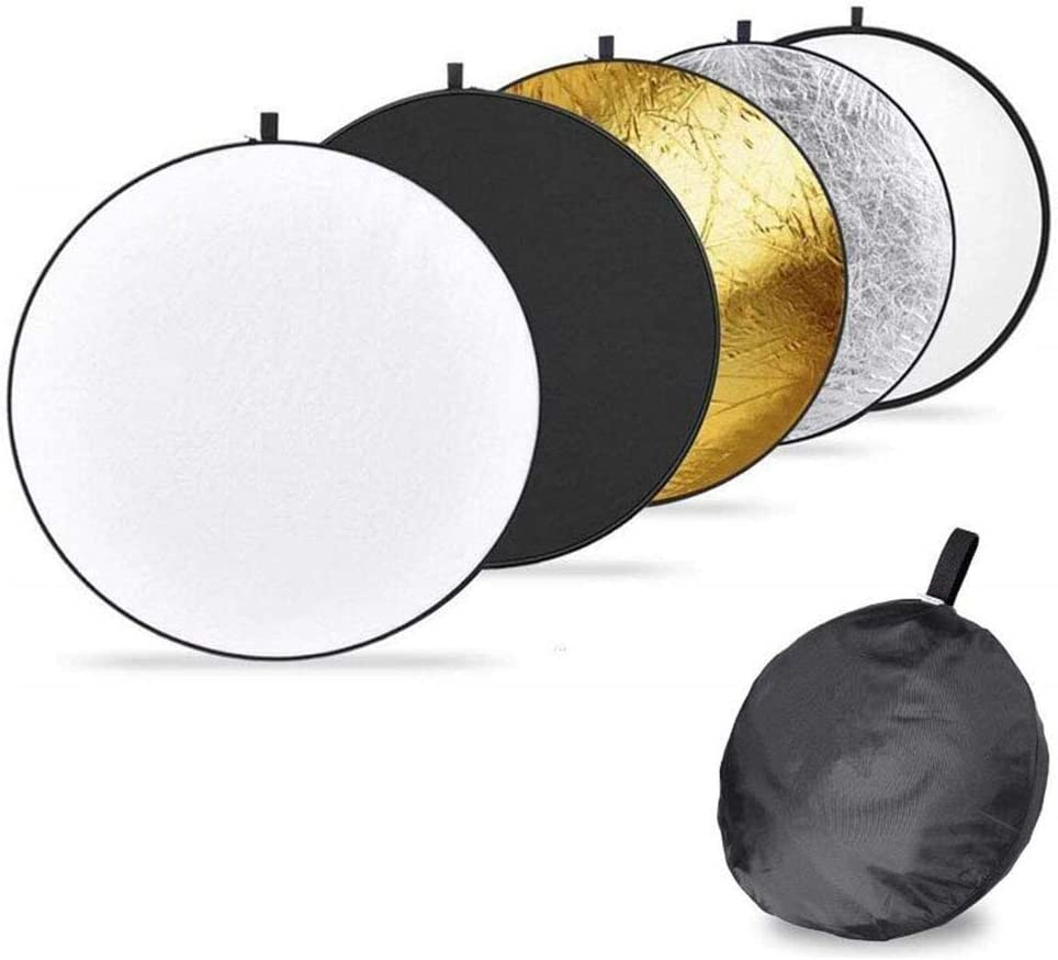 Beauenty 110cm Five In One Circular Reflector Photography Reflector Portable Bag Outdoor Photography Reflector 5 Color Plate