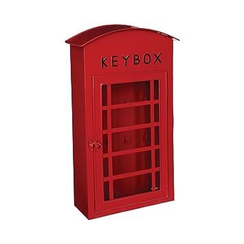Armario para llaves - Forma cabina telefónica LONDON - Color ROJO