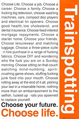Trainspotting Poster 24 x 36in