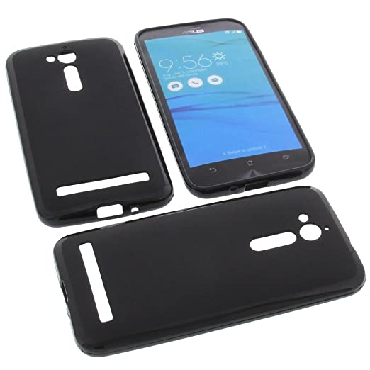 3 opinioni per Custodia per cellulari Asus ZenFone Go ZB500KG in gomma TPU di colore nero