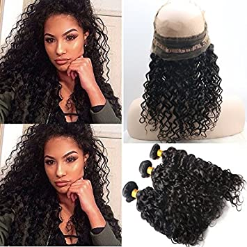 Amazon Foxys Hair 360 Band Lace Frontal Closures With Bundles