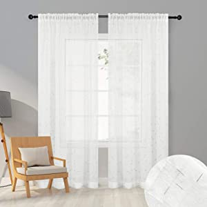 Sweepstakes: Melodieux White Sheer Curtains 84 Inches…
