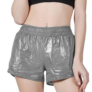 cinnamou Pantalones Mujer, Pantalones Cortos Anchos Casual ...