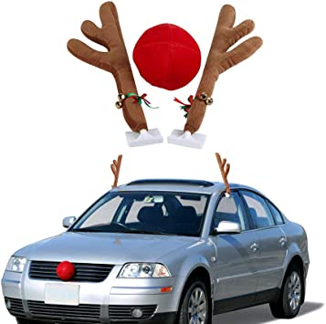 Rudolph Car Costume Kit  Antlers /& Nose Accessories Christmas Fun NEW