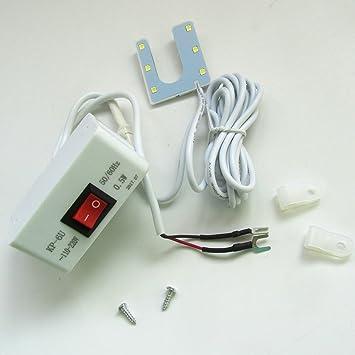 KUNPENG - 6 llevó la máquina de coser luz de la lámpara base magnética Singer, Consew, juki: Amazon.es: Hogar