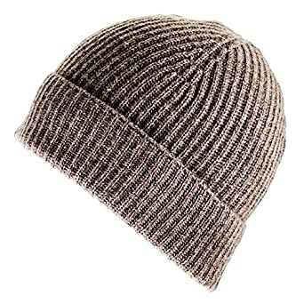 e15dff9e31ef4 Brown Cashmere Beanie Hat  Amazon.co.uk  Clothing