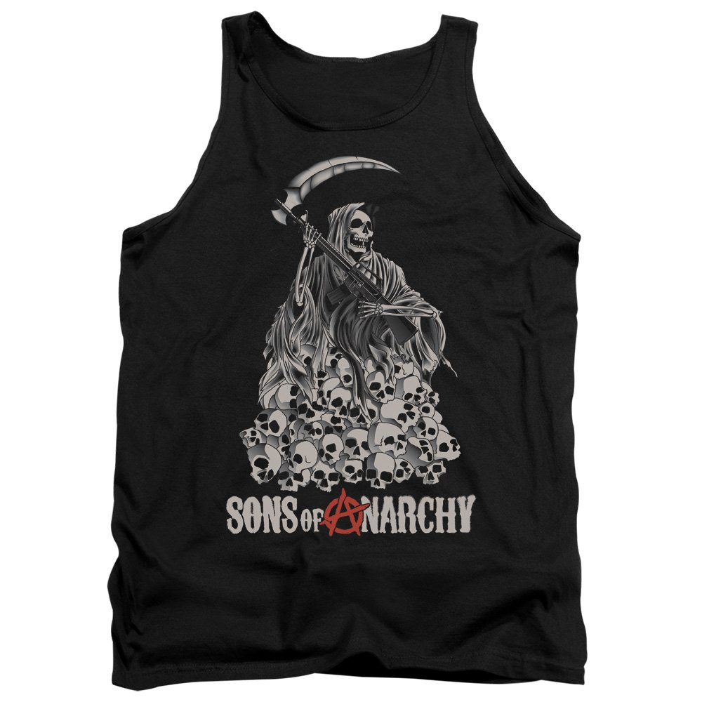 Sons Of Anarchy Pile Of Skulls Adult Tank Top