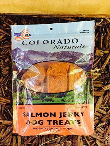 Colorado Naturals Wild Caught Salmon Jerky Dog Treats. Made in USA with 100% U.S.D.A. Grade Salmon 1Lb (Real 100% Salmon)