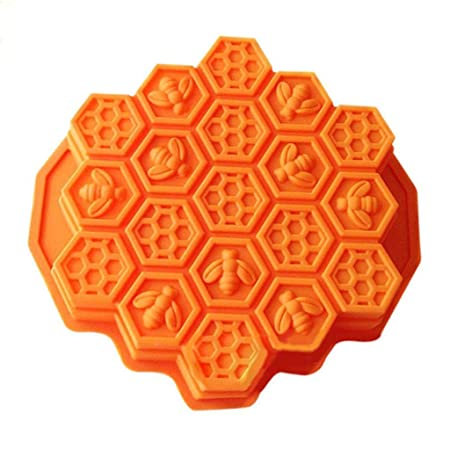 Amazon.com: DDLmax Mould,Bee Honeycomb Cake Mold Mould Soap Mold Silicone Flexible Chocolate Mold: Kitchen & Dining