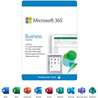Microsoft 365 Business Standard   12-Month Subscription, 1 person   Premium Office apps   1TB OneDrive cloud storage…