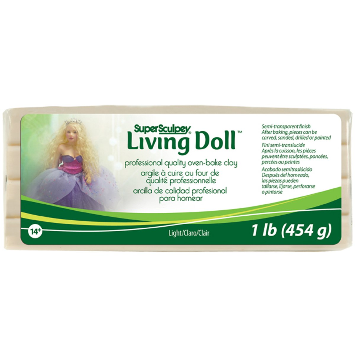 Brand New Super Sculpey Living Doll Clay 1lb-Light Brand New