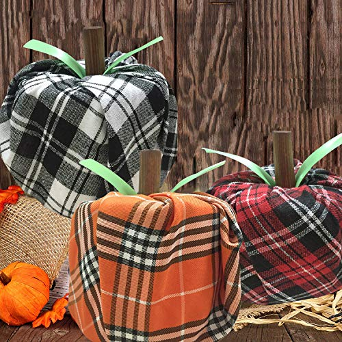 Diy Halloween Porch Decorations (Fall Decorations - Thanksgiving Decorations - 6 set DIY Fabric Toilet Paper Pumpkins Craft Kit(Makes 6) - Autumn Decor for Home Kitchen Classroom Farmhouse Porch Table Birthday Party)