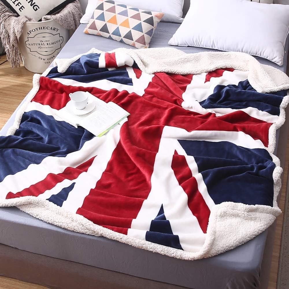 TEALP Mantas para Sofas de Franela 130x150cm - Manta y Cama para Adultos y Niños (Bandera Británica): Amazon.es: Hogar