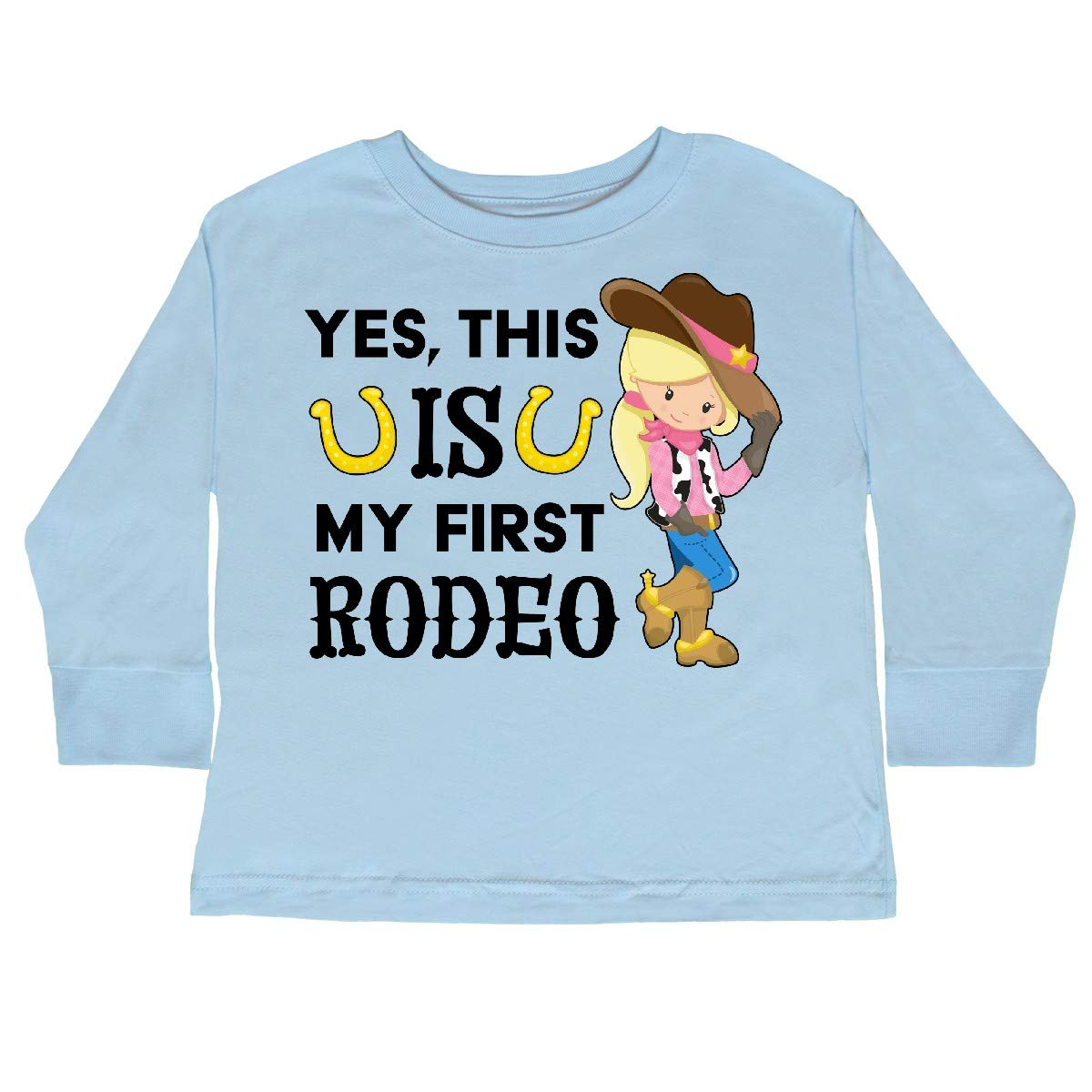 Cowgirl in Toddler Long Sleeve T-Shirt inktastic Yes This is My First Rodeo