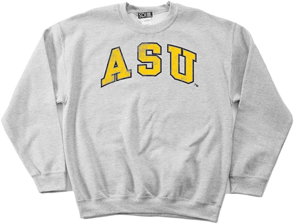 NCAA Appalachian State Mountaineers 50//50 Blended 8-Ounce Vintage Arch Crewneck Sweatshirt