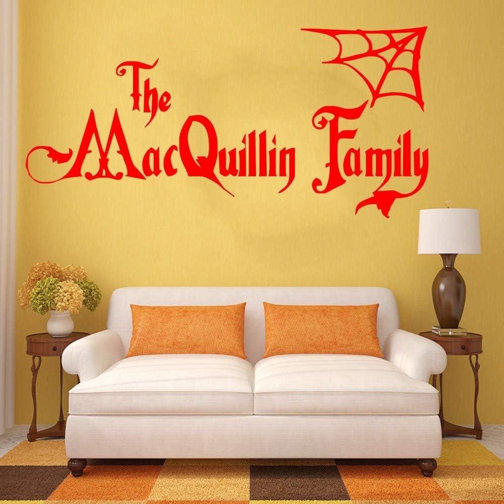 Ajcwhml Nombre de Familia Personalizado de Halloween Adams Family ...