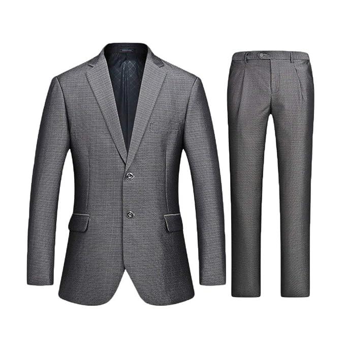 956ca328c40c QK-Lannister Giacche in Tweed Monopetto Uomo Disegni per Tempo Libero  Abbigliamento Il Blazer Giacche da Uomo Slim Fit Giacca Bavero A Manica  Lunga Elegante ...