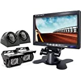eRapta Backup Camera 2.0 with Monitor for RV Truck Trailer Tractor 5th Wheel Split Screen Back Up Reversing Parking Backing R