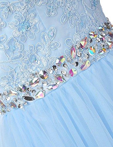 Cocktailkleider Mit Abendkleider Kleider Kurz Perlen Damen Romantik Dunkelrot Spitzenkleider Tüll Carnivalprom Brautjungfernkleider aw5S6x