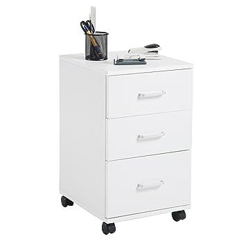 Büroschrank weiß schubladen  Rollcontainer JUPITER Bürocontainer Büroschrank, in weiß, mit 3 ...