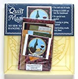 Quilt Magic No Sew Wall Hanging Kit - Wine Time - Approximately 11 x 11 inches
