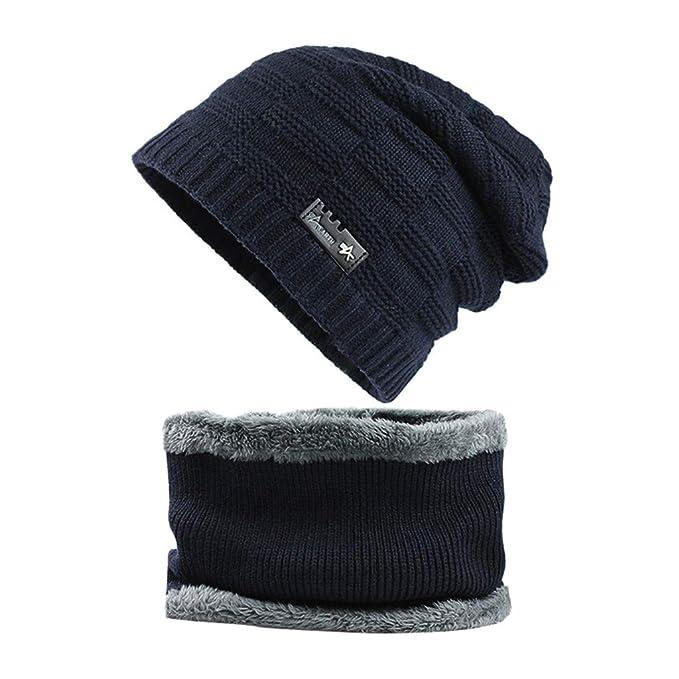 ALISIAM Unisex Otoño Invierno Hat Color sólido Esquí Cap Collar ...