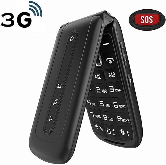 Amazon Com Ushining 3g Unlocked Flip Phone Dual Sim Card Flip Cell Phones Unlocked Sos Button Easy To Use Mobile Phone For Senior Kids Black Electronics