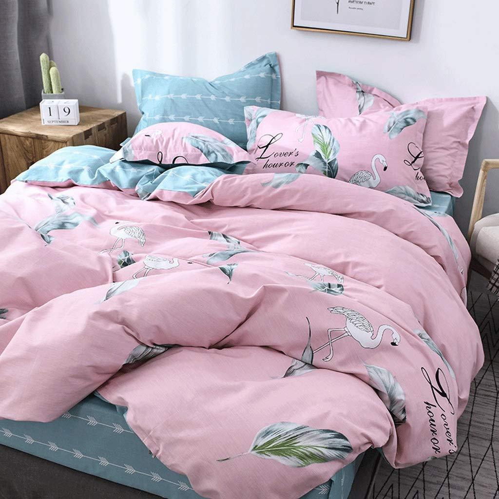 Houlingmei 掛け布団カバー- コットンの綿のシーツ4枚掛け布団カバーシーツ冬の寝具のベッドセット (色 : Picture C, サイズ さいず : 1.8m) 1.8m Picture C B07QTFKY4K