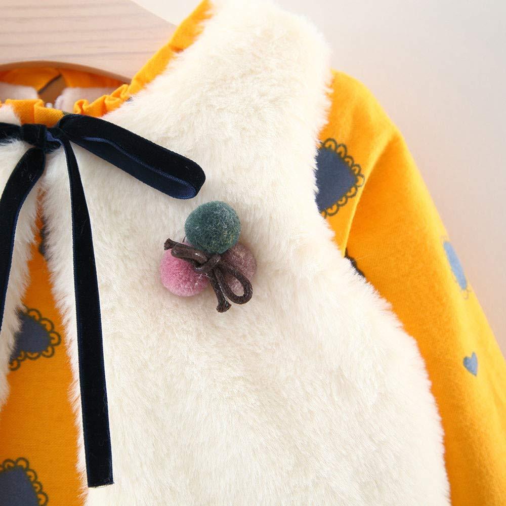 Weste Outfits Kleidung Set 2 St/ück Herbst Winter /Ärmellose Weste Warm Outwear MEIbax Neugeborenes Baby M/ädchen Cartoon Warme Prinzessin Kleid
