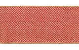 "Melrose Burnt Orange and Tan Beige Chevron Wired Craft Ribbon 4"" X 60 Yards"