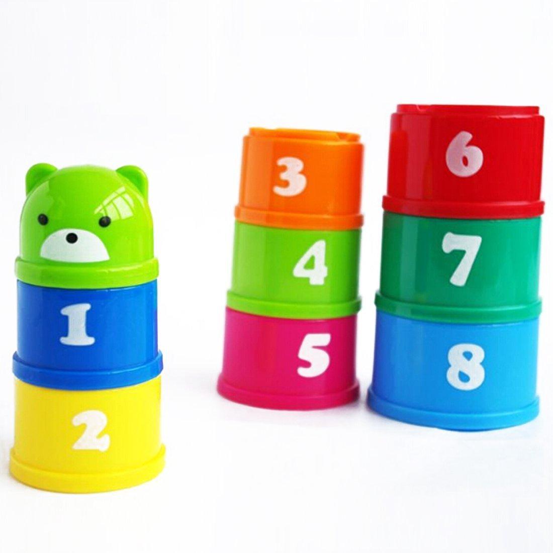 HuSuper Cute Bear Toy Stack Cup B077973QZ4 | Verschiedene Stile