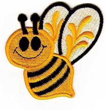 Biene Hummel Aufnäher Bügelbild Aufbügler Iron On Patches Applikation Eule Uhu Nachteule Vogel Auto
