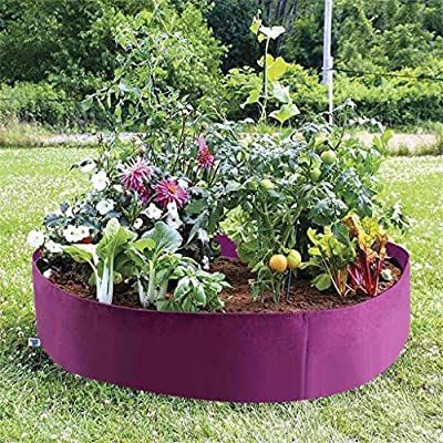 Coohole Raised Plant Bed Round Plant Grow Bag Planter Pot for Plants, Flower, Vegetables Nursery Indoor & Outdoor & Garden and Planting Grow: Home & Kitchen