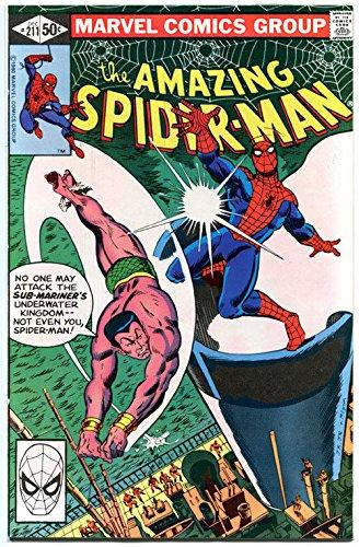 AMAZING SPIDER-MAN #211, VF, vs Sub-mariner, 1963, more in store, Bronze age