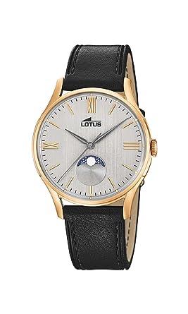 Uhr Armband Mondphase 184281 Watches Herren Lotus Mit Quarz Leder zSUVMp
