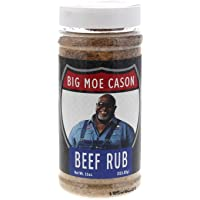 Big Moe Cason Beef Rub Jar 14.1oz Seasoning Barbeque BBQ Flavouring Meat