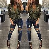Keepfit Fashion Casual Blouse Camouflage, Slim