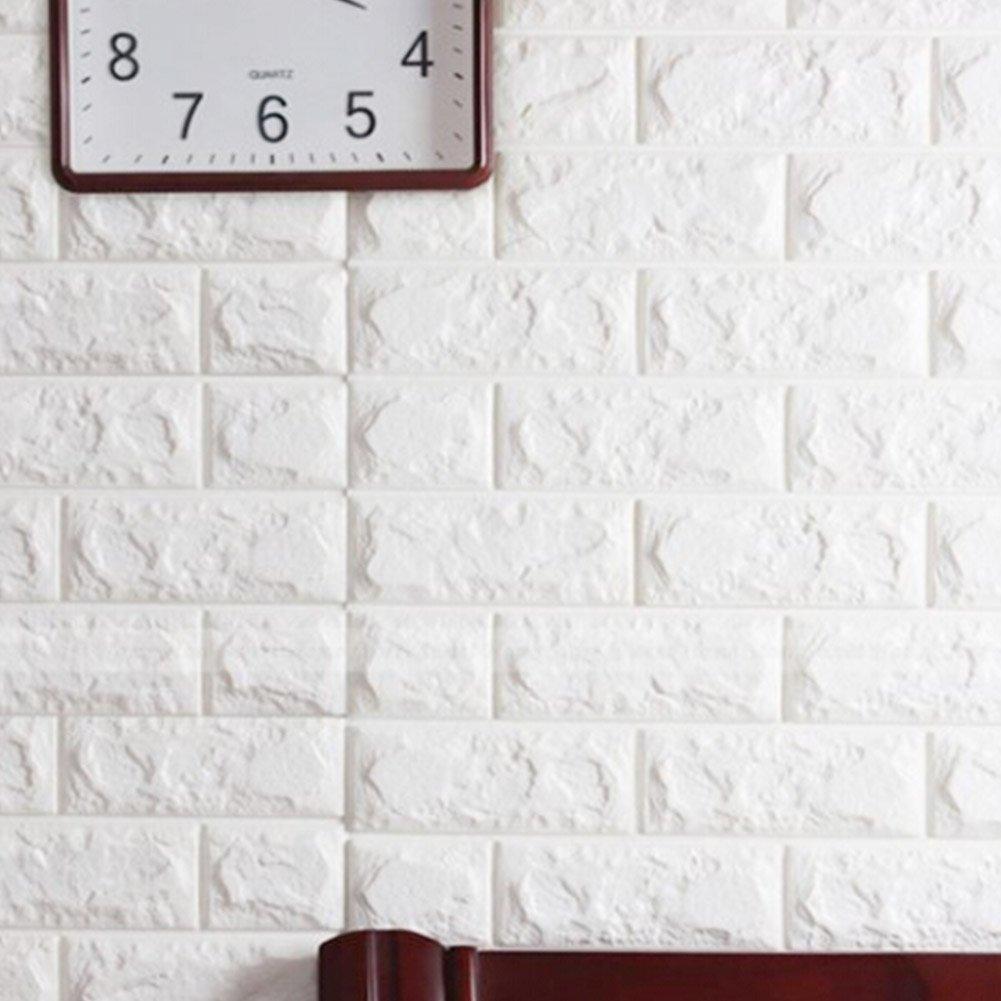 3d De Ladrillos Papel Pintado Yibanban 3d Est Reo De Papel  ~ Azulejo Imitacion Ladrillo Blanco
