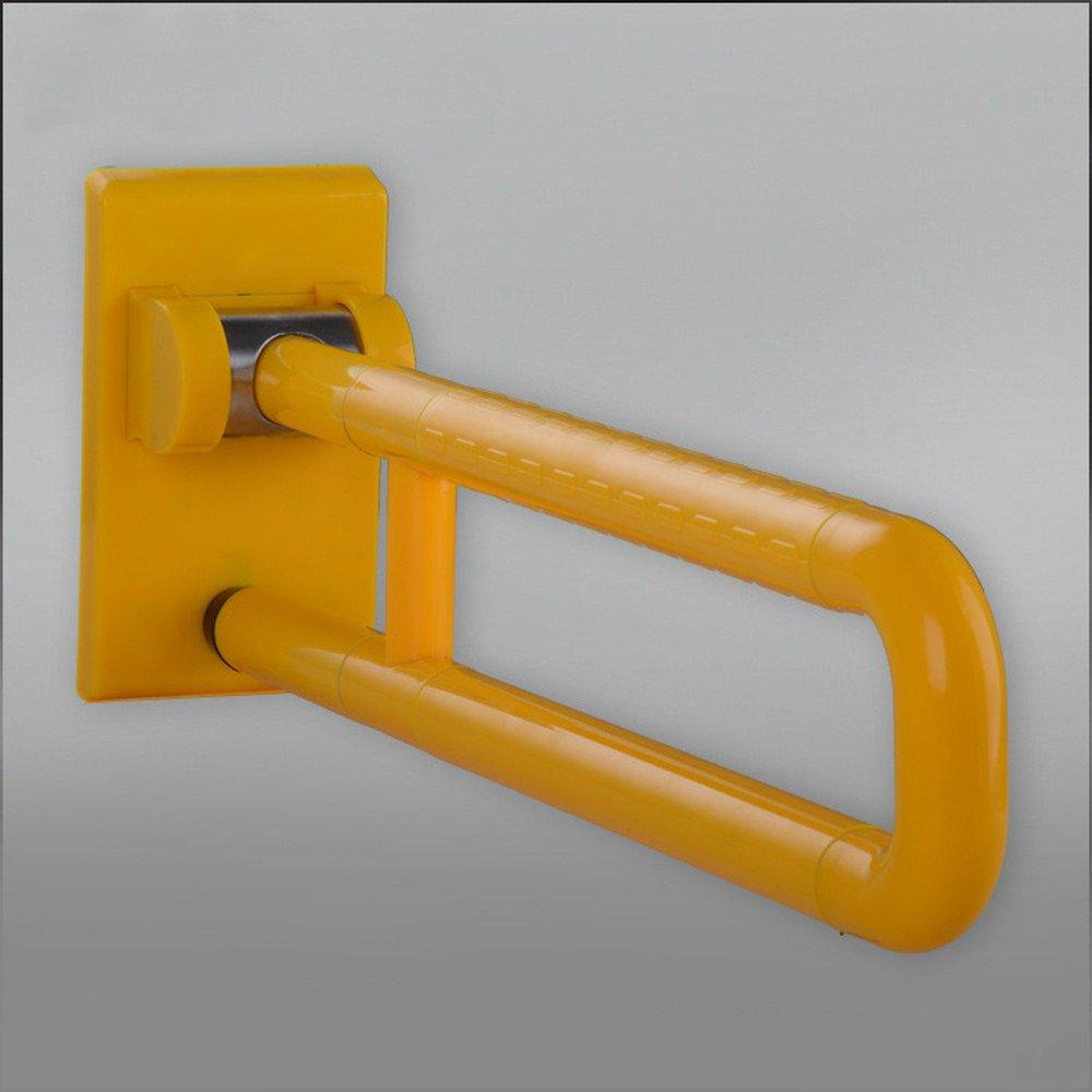 MDRW-Bathroom Handrail Toilet Armrest Antimicrobial Nylon Tube Stainless Steel Handrail Zinc Plated Toilet Toilet Bathroom Armrest. Yellow