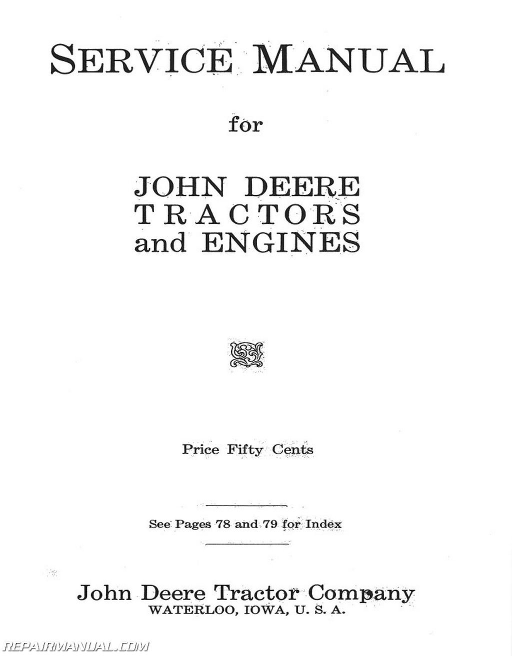 JD-D-GP-REPRO John Deere D GP Unstyled Tractor and Engine Service Manual:  Manufacturer: Amazon.com: Books