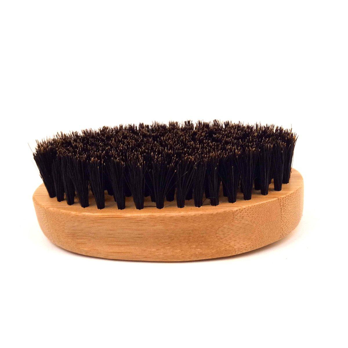 Cepillo de la barba para los hombres, URAQT jabón suave natural del pelo del cepillo de la cerda Mens que labra y que se lava la herramienta para las barbas ...