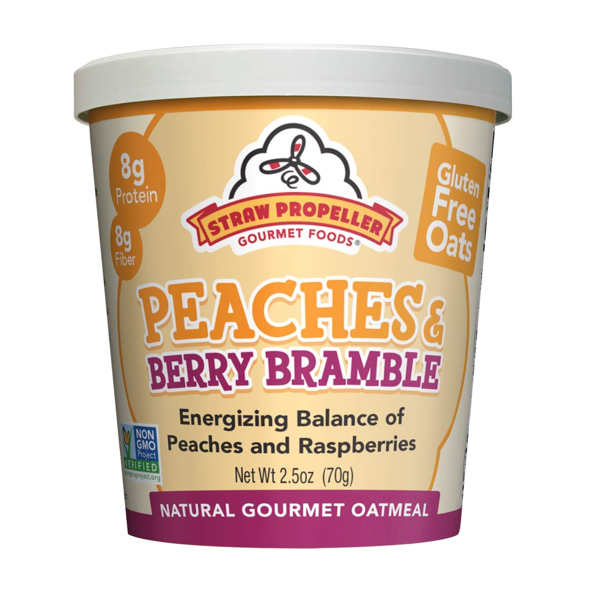 Straw Propeller Peaches & Berry Bramble Oatmeal (Case of 12)